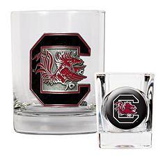 South Carolina Gamecocks 2-pc. Rocks Glass & Shot Glass Set