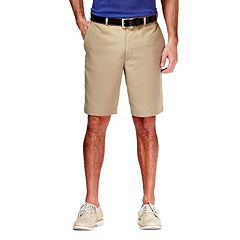 Big & Tall Haggar Cool 18 Plain-Front Microfiber Shorts
