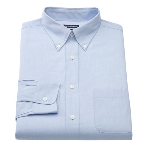 Croft & Barrow® Slim-Fit Solid Easy-Care Button-Down Collar Dress Shirt - Big and Tall
