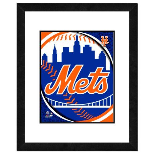 New York Mets Framed Logo