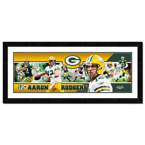 Aaron Rodgers Framed Player Photoramic