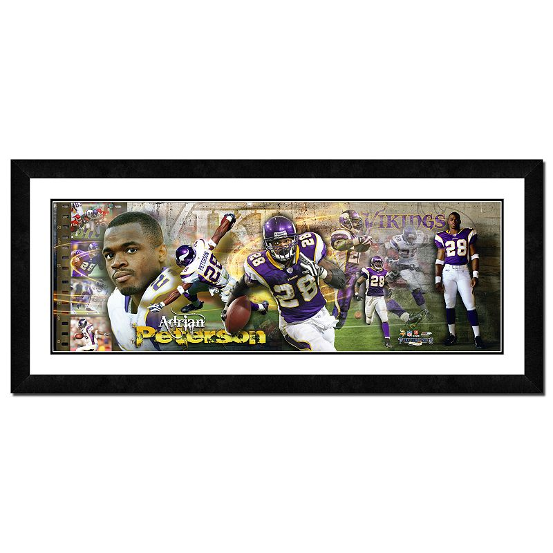 Adrian Peterson Framed Player Photoramic