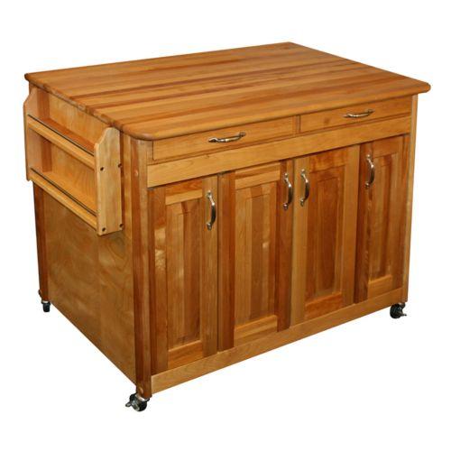 Catskill Craftsmen Butcher Block Top Kitchen Cart