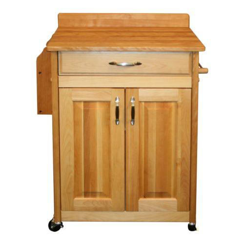 Catskill Craftsmen Deluxe Butcher Block Top Kitchen Cart