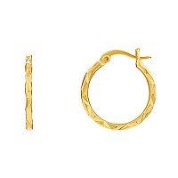 14k Gold Plated Hoop Earrings