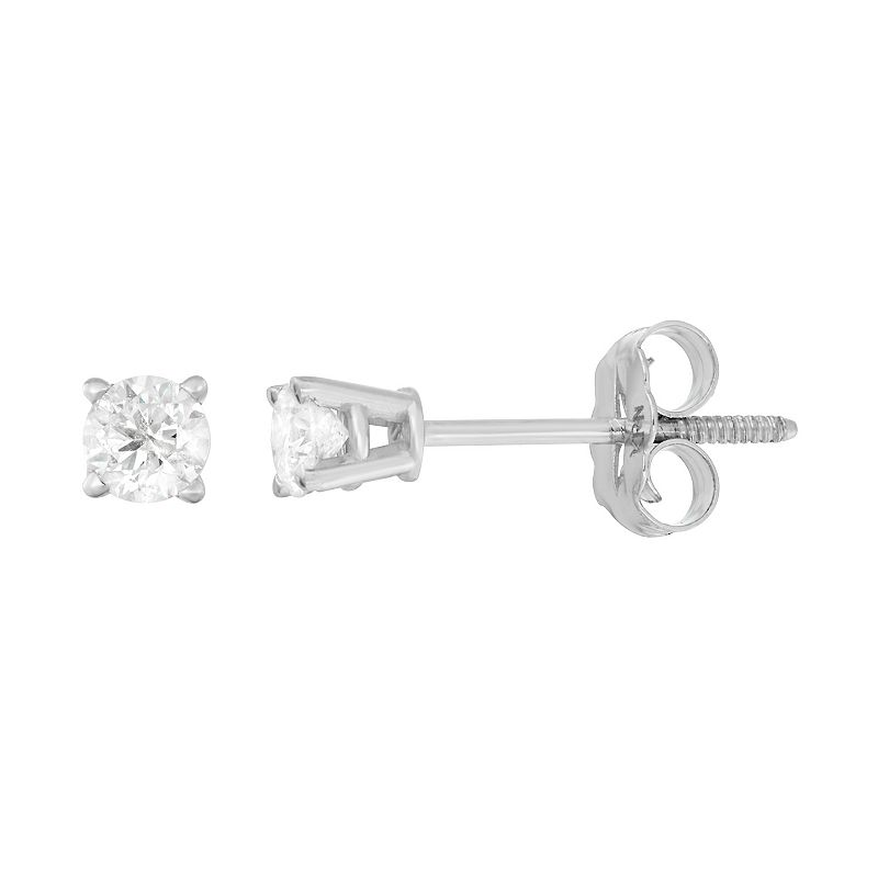 14k White Gold 1/4-ct. T.W. Round-Cut Diamond Solitaire Earrings