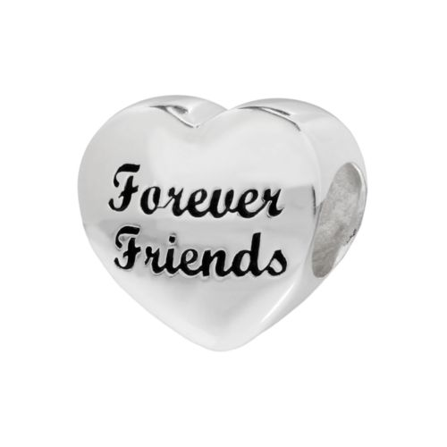 Individuality Beads Sterling Silver Forever Friends Heart Bead