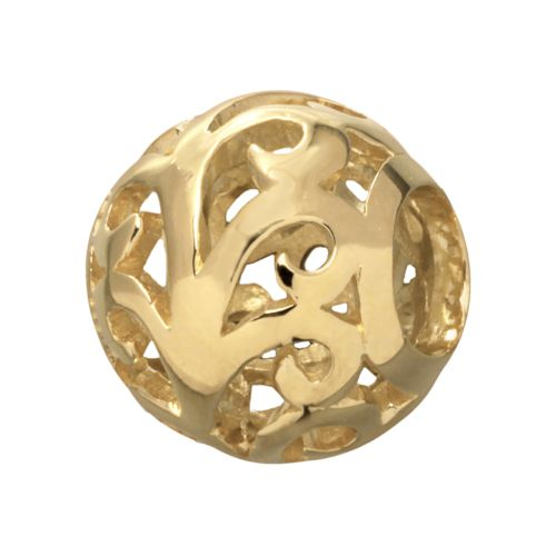 Individuality Beads 24k Gold Over Silver Filigree Spacer Bead