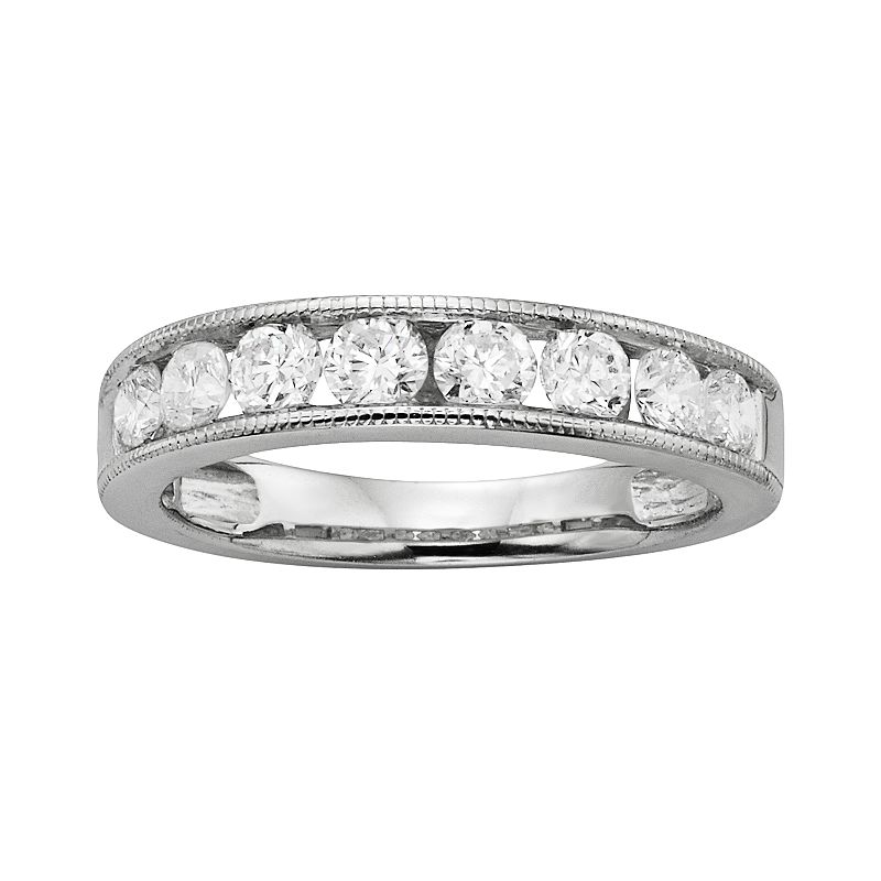 14k White Gold 1-ct. T.W. IGL Certified Round-Cut Diamond Wedding Ring