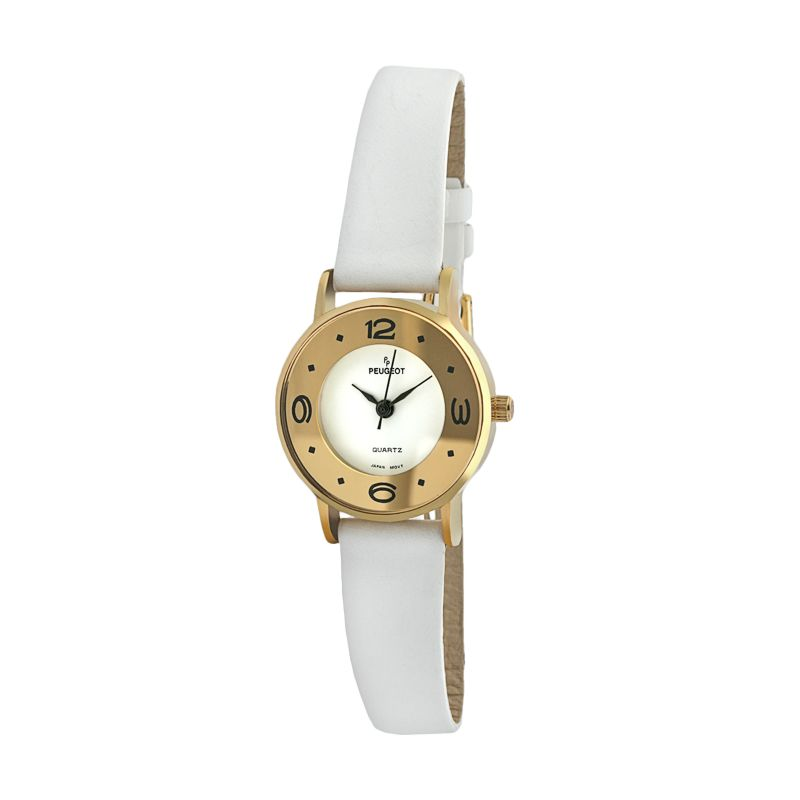 Peugeot Women's Leather Watch - 380-4, White thumbnail