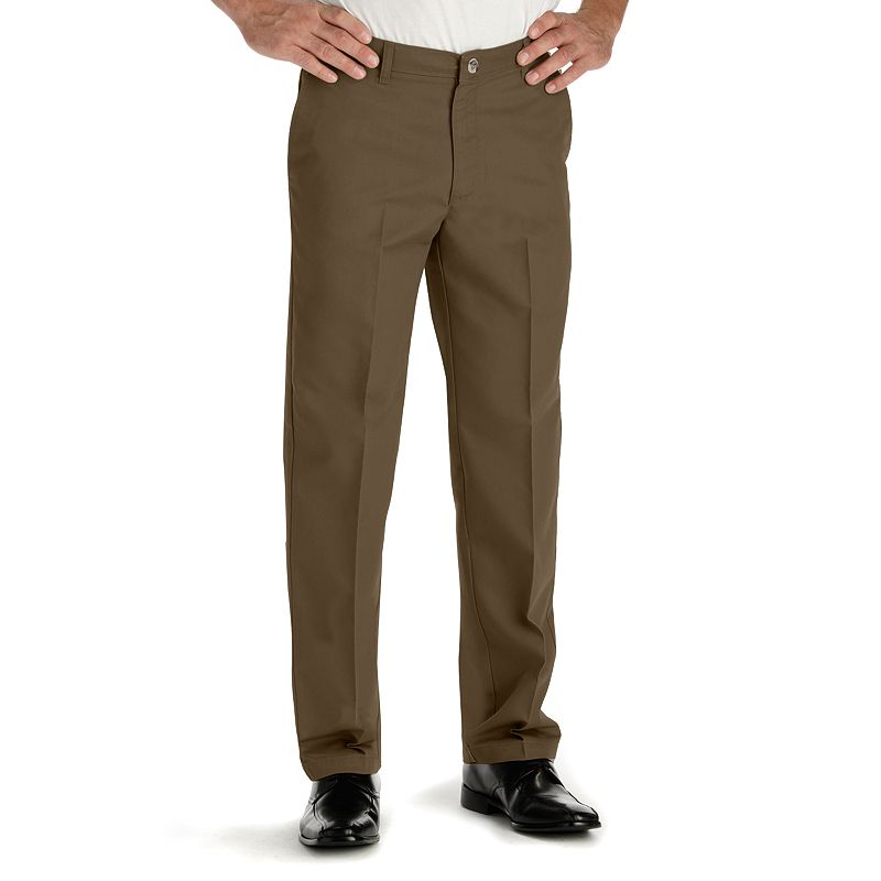 Men's Lee Total Freedom Relaxed-Fit Stain Resist Flat-Front Pants
