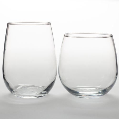 Libbey Vina 12-pc. Stemless Wine Glass Set
