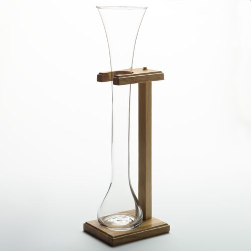 Libbey Half-Yard of Ale Glass with Wooden Stand