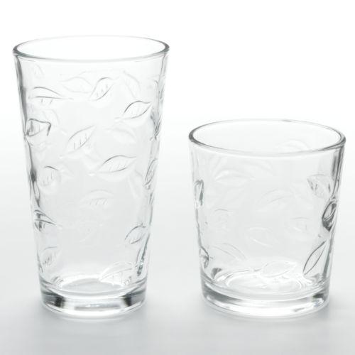 Libbey Leaves 16-pc. Glassware Set