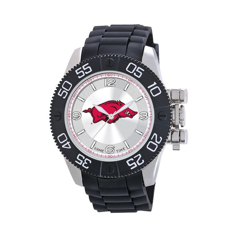 Game Time Beast Series Arkansas Razorbacks Stainless Steel Watch - COL-BEA-ARK - Men