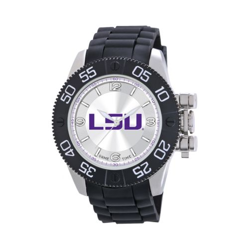 Game Time Beast Series LSU Tigers Stainless Steel Watch - COL-BEA-LSU - Men