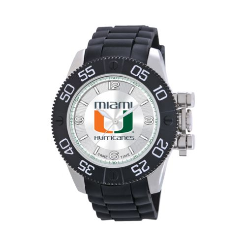 Game Time Beast Series Miami Hurricanes Stainless Steel Watch - COL-BEA-MIA - Men