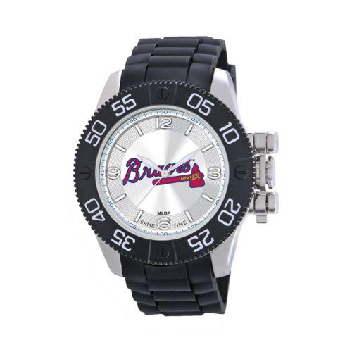 Game Time Beast Series Atlanta Braves Stainless Steel Watch - MLB-BEA-ATL - Men