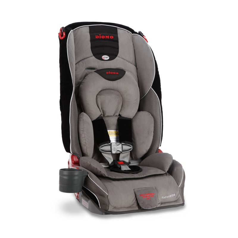 Diono Radian R120 Convertible Booster Car Seat, Grey