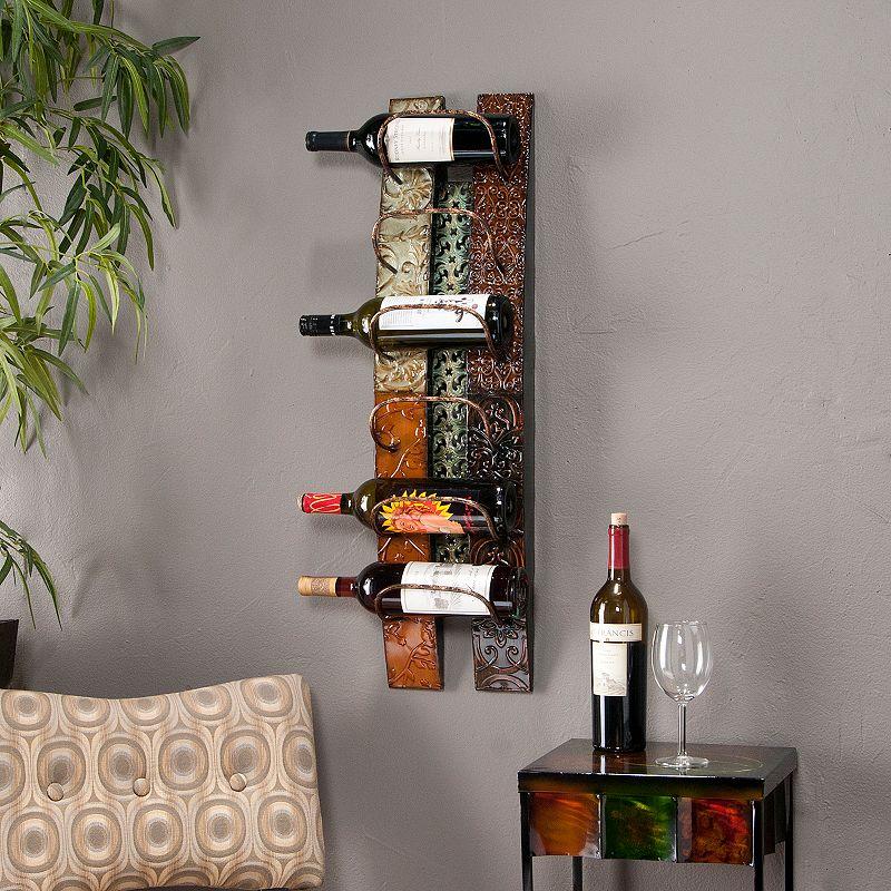 Adriano 6-Bottle Wall-Mount Wine Rack