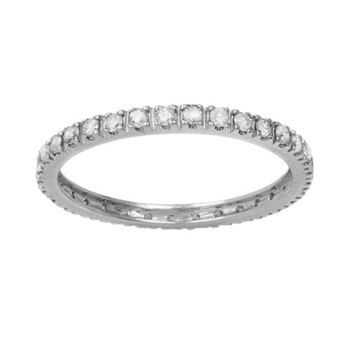 10k White Gold 1/2-ct. T.W. Diamond Eternity Wedding Ring