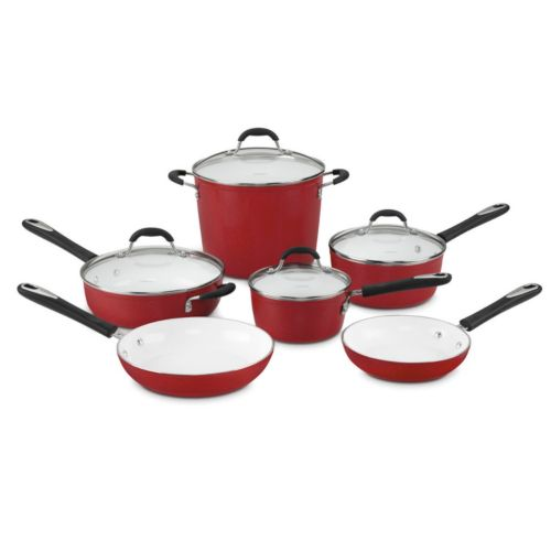 Cuisinart Ceramica 10-pc. Nonstick Ceramic Cookware Set