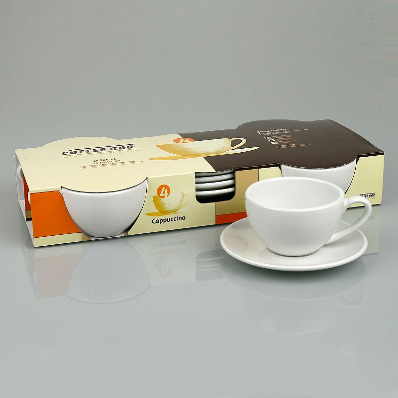 Coffee Bar By Konitz 8-pc. Cappuccino Cup and Saucer Set