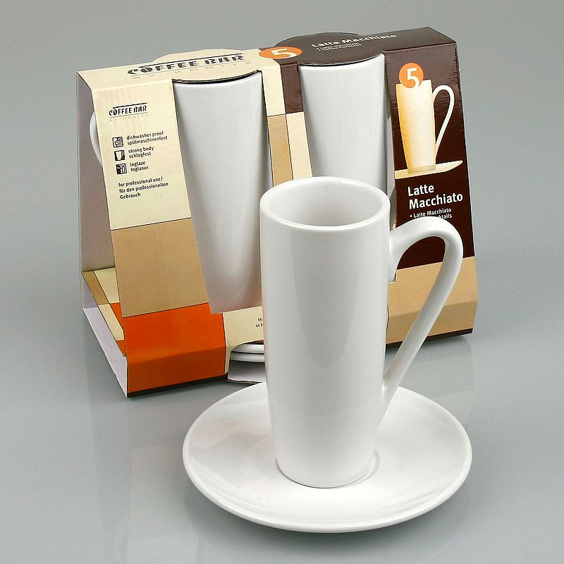 Coffee Bar By Konitz 4-pc. Latte Macchiato Cup and Saucer Set