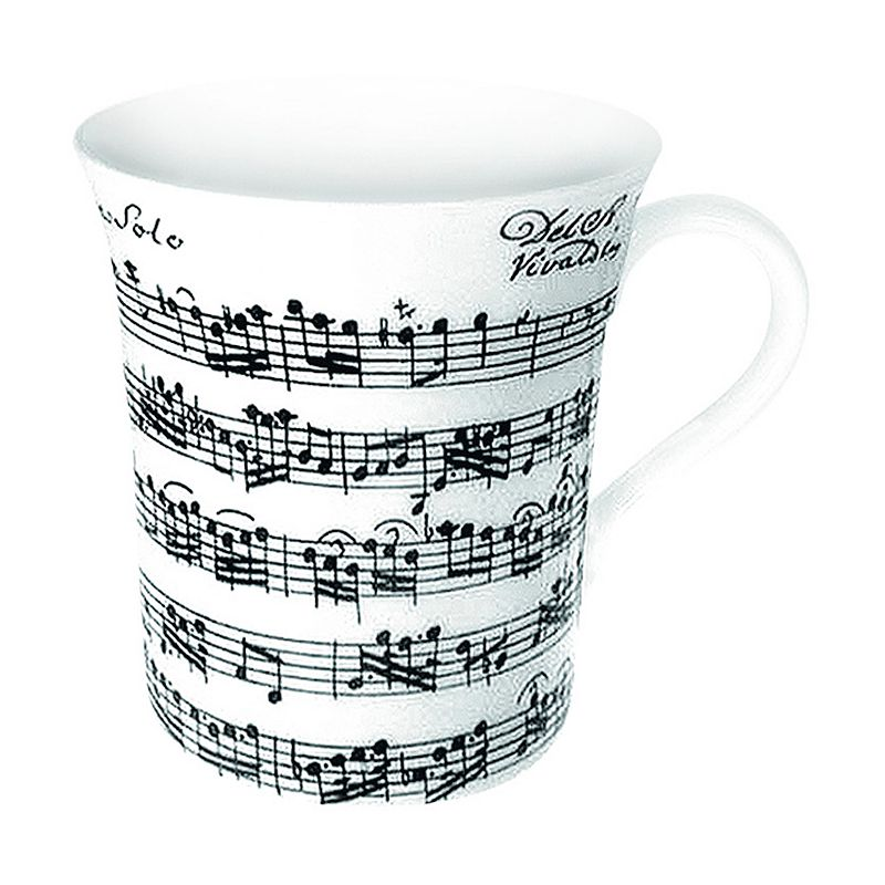 Konitz Vivaldi Libretto White 4-pc. Mug Set
