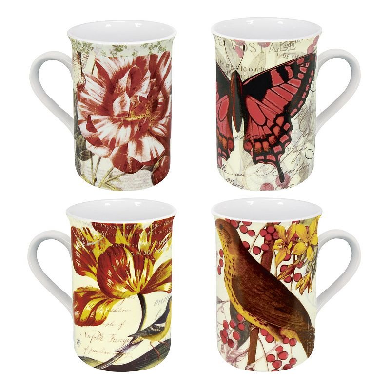 Konitz Botanical 4-pc. Mug Set