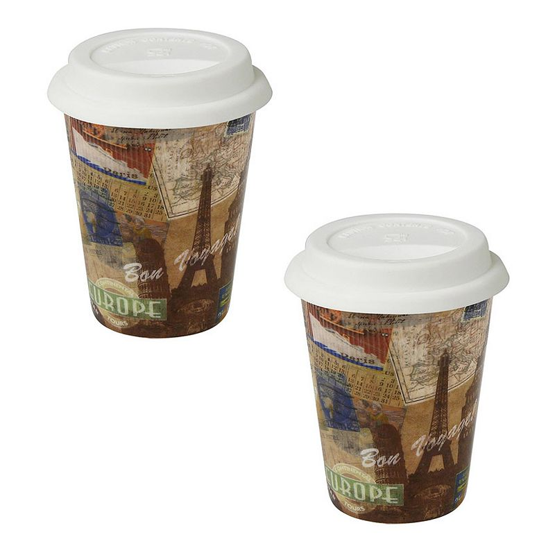 Konitz Bon Voyage 2-pc.Travel Mug Set