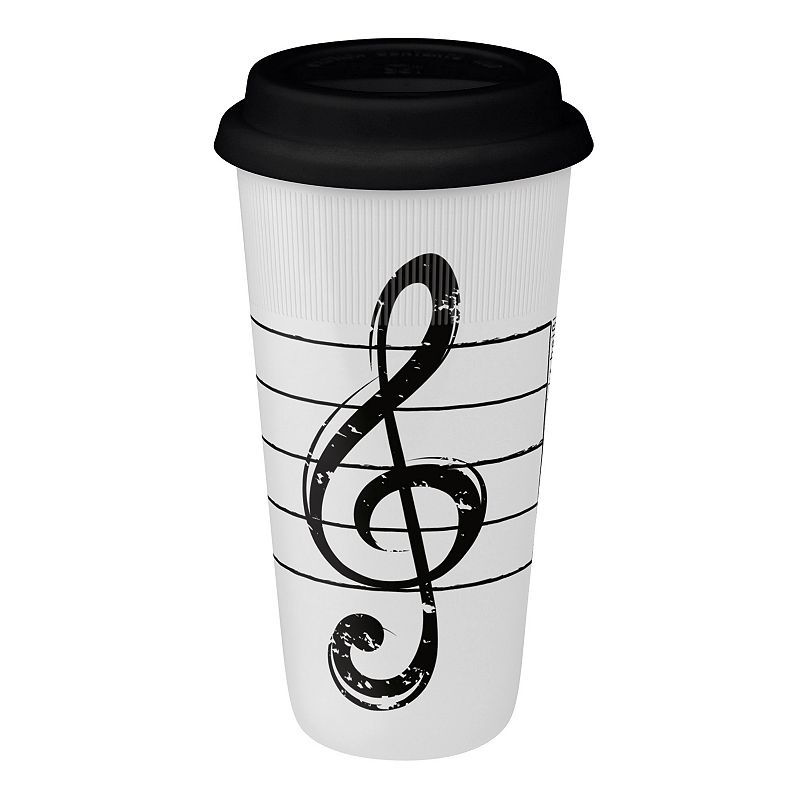 Konitz Treble Clef 2-pc. Travel Mug Set