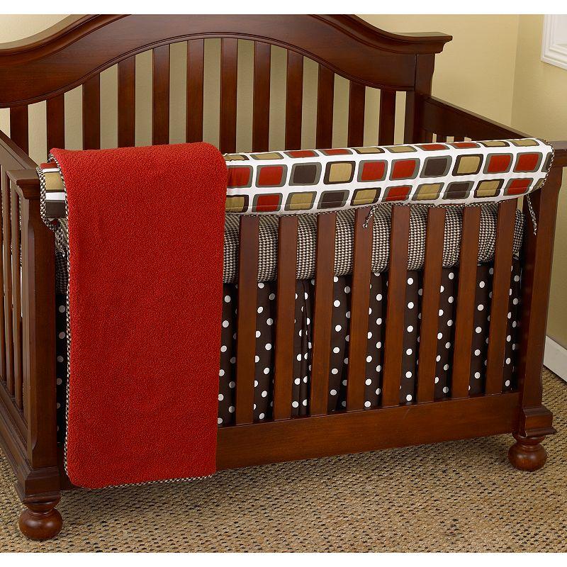 Cotton Tale 4-pc. Houndstooth Crib Rail Cover Crib Set