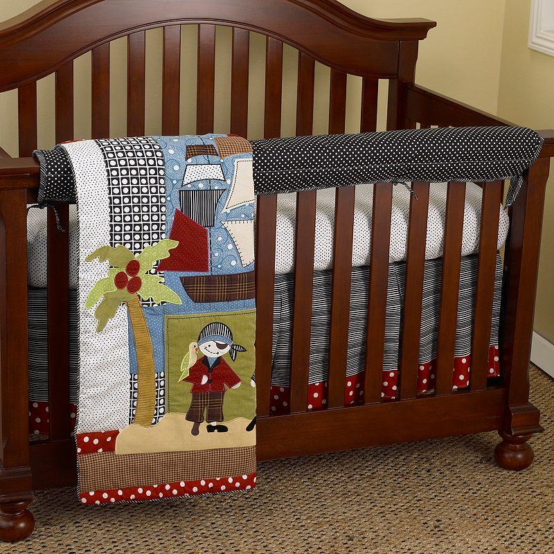 Cotton Tale 4-pc. Pirate's Cove Crib Rail Cover Crib Set