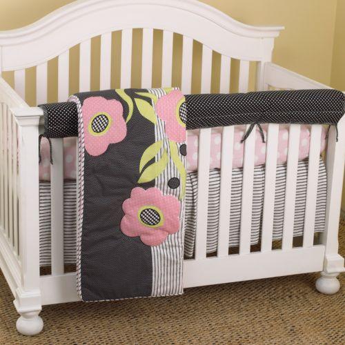 Cotton Tale 4-pc. Poppy Crib Rail Cover Crib Set
