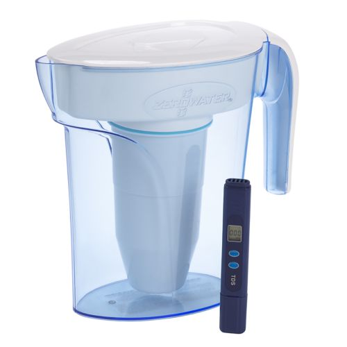ZeroWater 6-cup Space Saver Plastic Filtration Pitcher