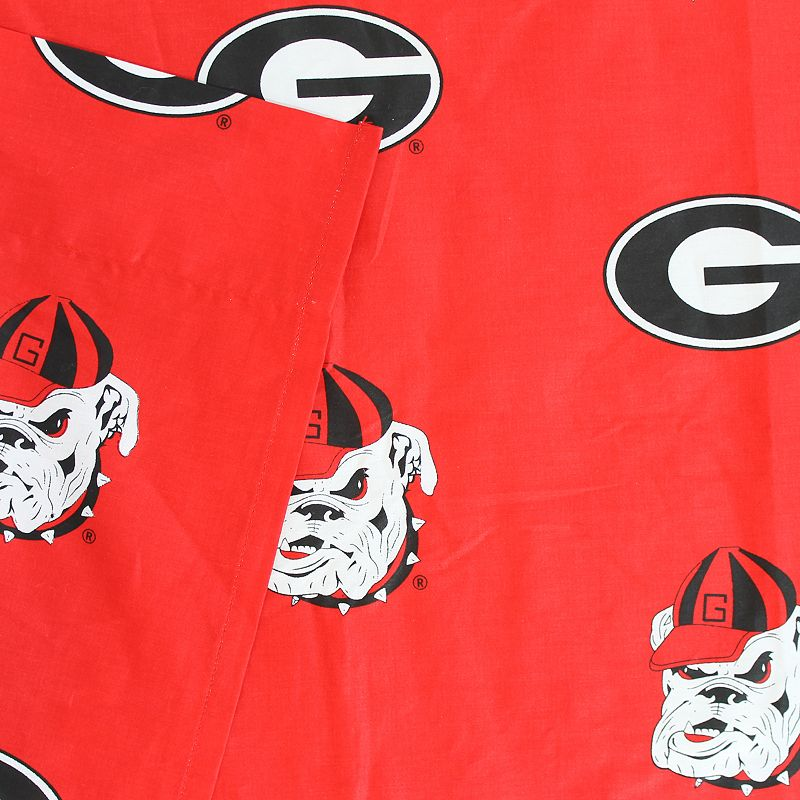 Georgia Bulldogs Printed Sheet Set - Twin