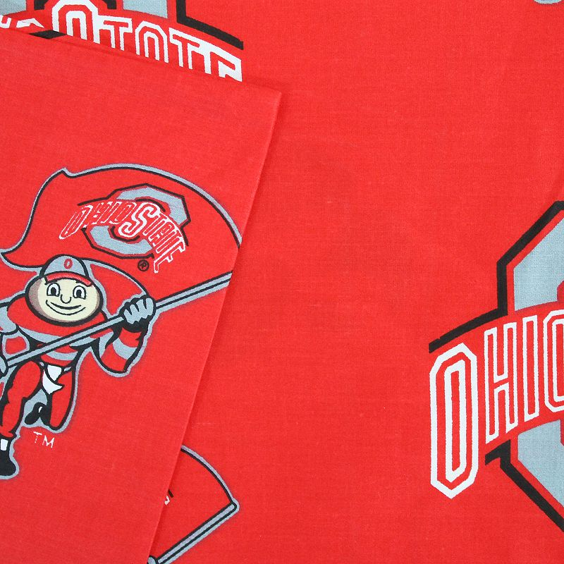 Ohio State Buckeyes Printed Sheet Set - Queen