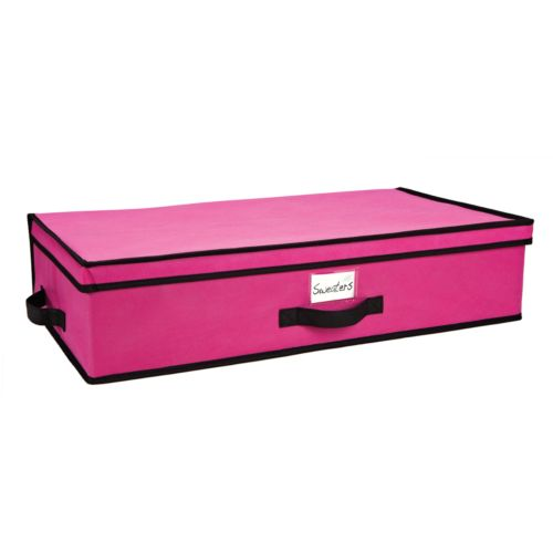 Kennedy Home Collection Black Fuchsia Under-Bed Storage Box