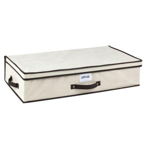 Kennedy Home Collection Black Cream Under-Bed Storage Box