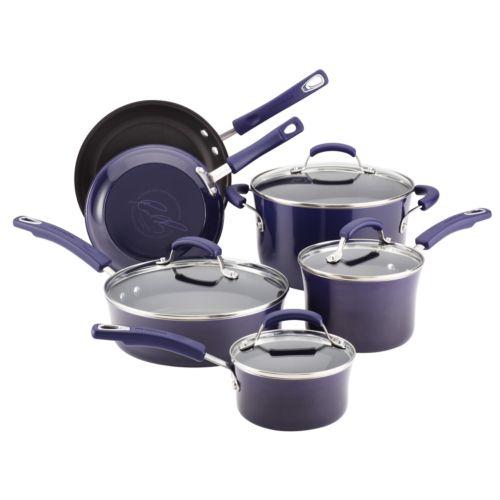 Rachael Ray 10-pc. Nonstick Porcelain Enamel Cookware Set