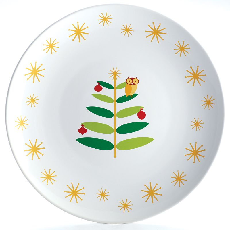 Rachael Ray Holiday Hoot 14-in. Round Platter