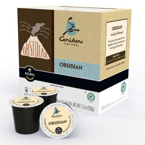 Keurig® K-Cup® Pod Caribou Coffee Obsidian Dark Roast Coffee - 18-pk.