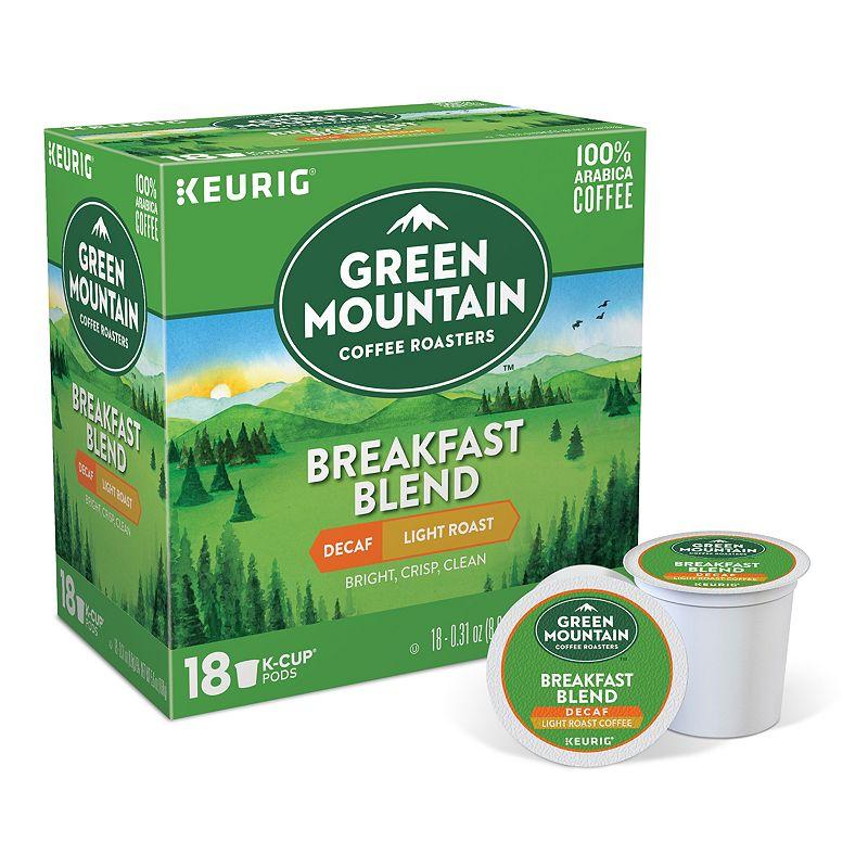 Keurig® K-Cup® Pod Green Mountain Coffee Breakfast Blend Decaf Coffee - 18-pk.