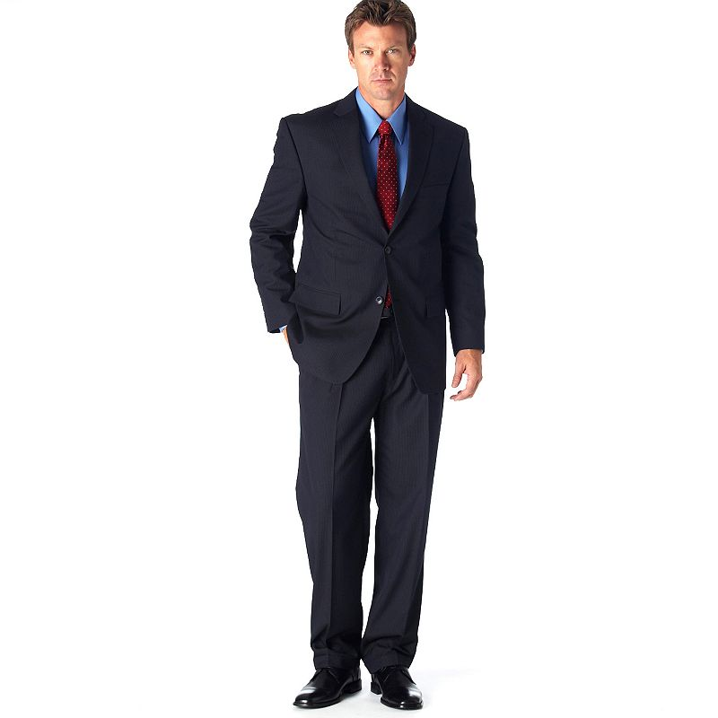 Men's Haggar® Classic-Fit Navy Pinstripe Suit Jacket