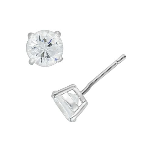 Sunstone 925 Sterling Silver Stud Earrings - Made with Swarovski Cubic Zirconia