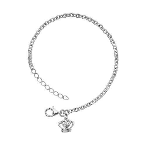 Little Diva Diamonds Sterling Silver Diamond Accent Crown Bracelet - Kids