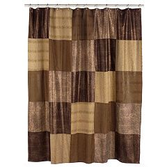 Home Classics Wild Patch Fabric Shower Curtain by