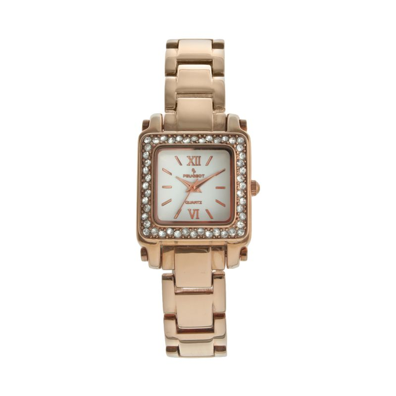 Peugeot Women's Crystal Watch - 7044RG, Pink thumbnail