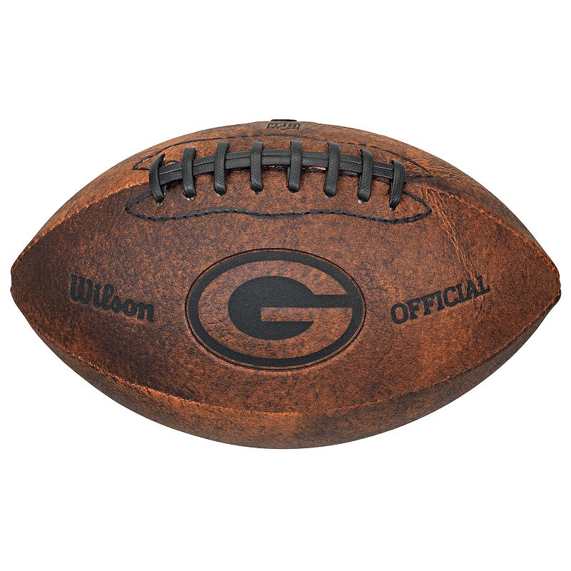 Wilson Green Bay Packers Throwback Youth-Sized Football